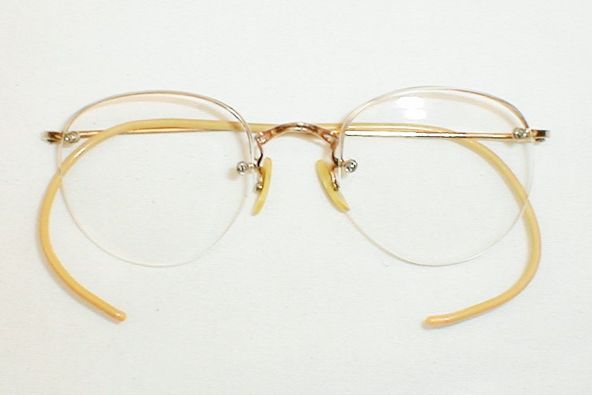 Antique Round Gold Silver Spectacles Eyeglasses AO Ful-Vue ...
