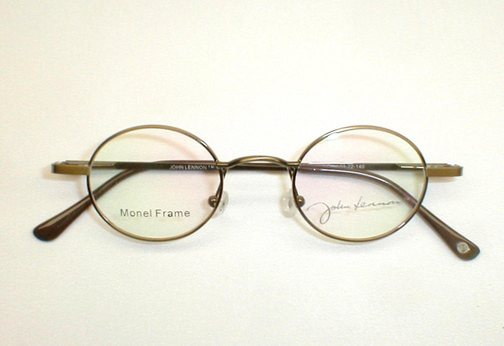 Antique Gold Silver John Lennon Collection Eyewear JLS260F