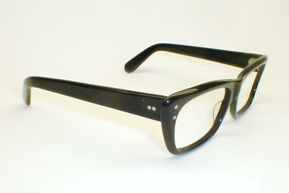 Glasses Frames Thick Black : Mens Vintage Eyeglasses Frame Italy Stenzel Black Thick ...
