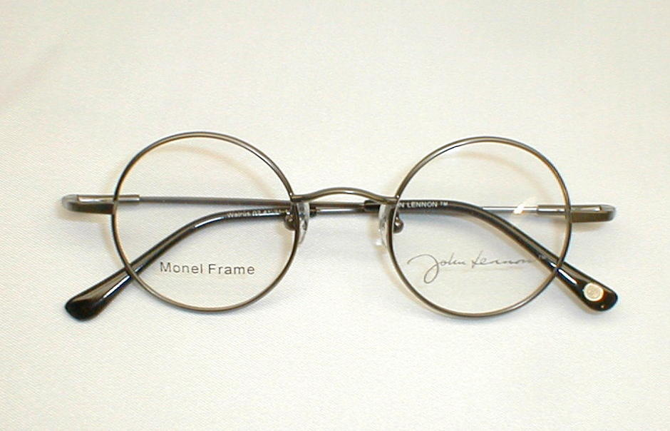 Glasses Frames John Lennon : Antique Gold Silver John Lennon Collection Eyewear JLS260F