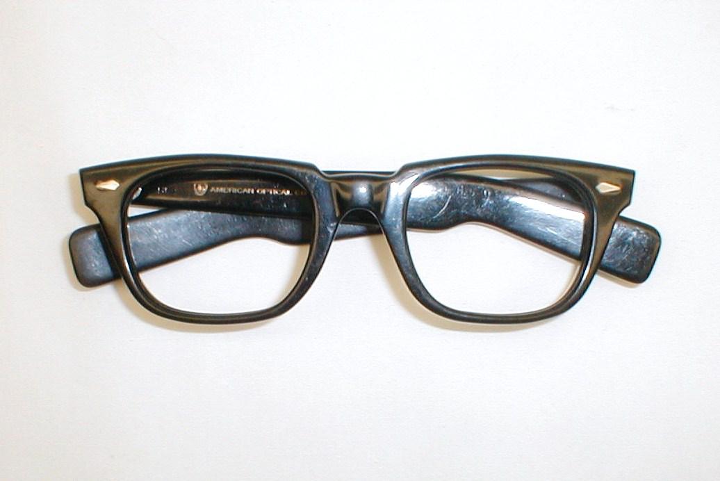 Mens Vintage Eyeglasses Frame 1950s AO Black