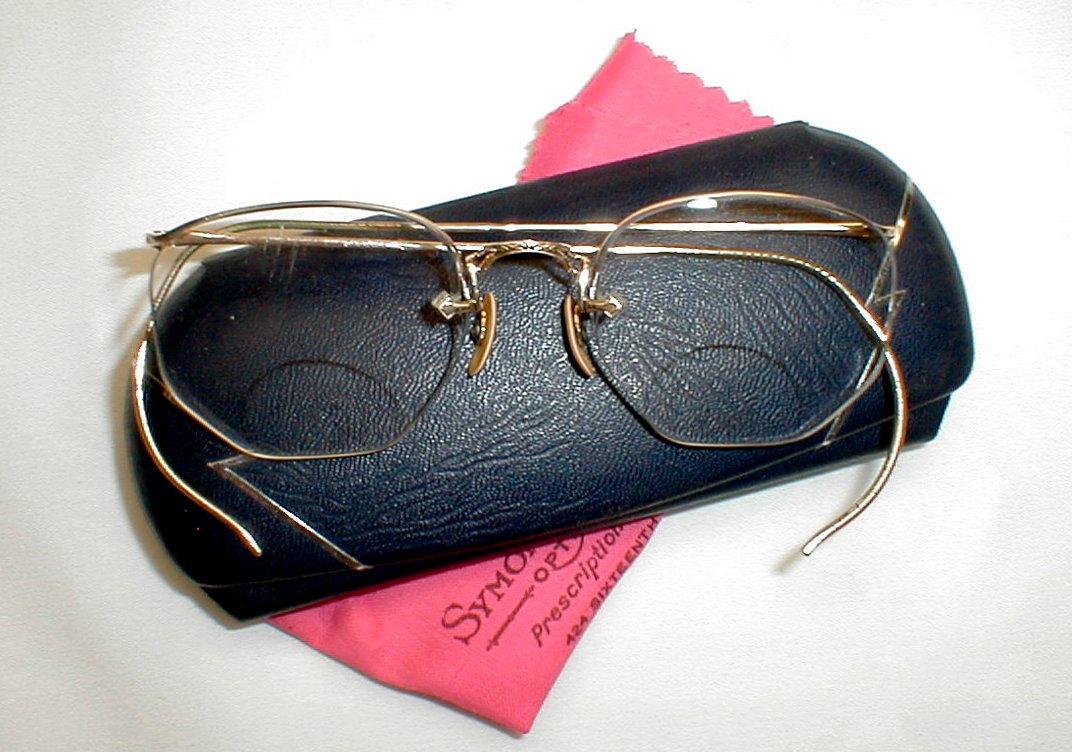 Eyeglasses with cable temples eyeglasses for Art craft eyeglasses vintage