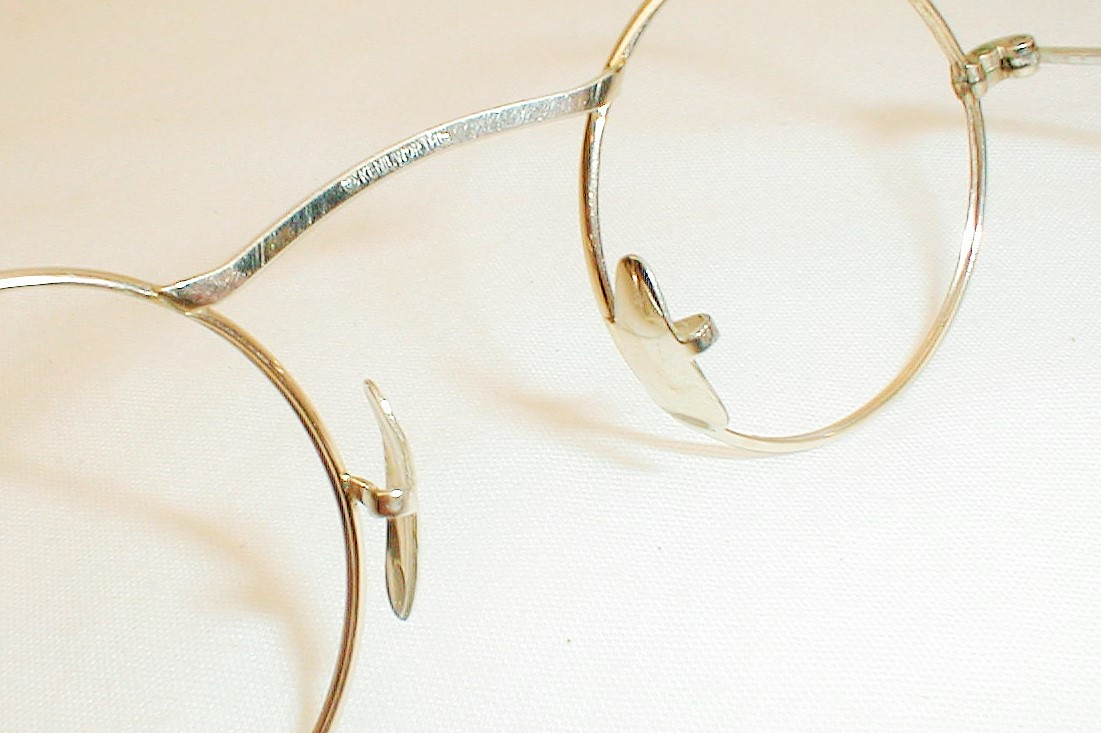 Vintage 20s 30s round 12k Gold eye glasses spectacles