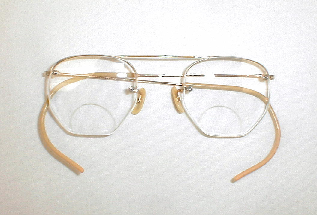 Antique Fulvue 12K GF Eyeglass Frames, Spectacles, Round, Uni