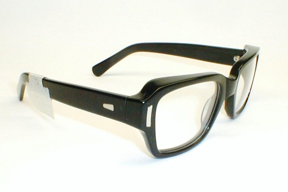 Mens Vintage Eyeglasses Frame Italy Stenzel Black Thick ...