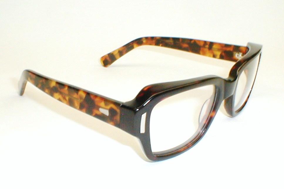 mens vintage eyeglasses frame italy stenzel black thick