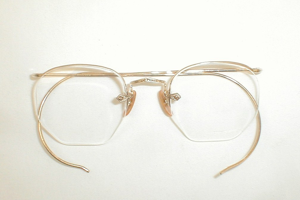 Gold And Silver Eyeglass Frames : Antique Round Gold Silver Spectacles Eyeglasses AO Ful-Vue ...