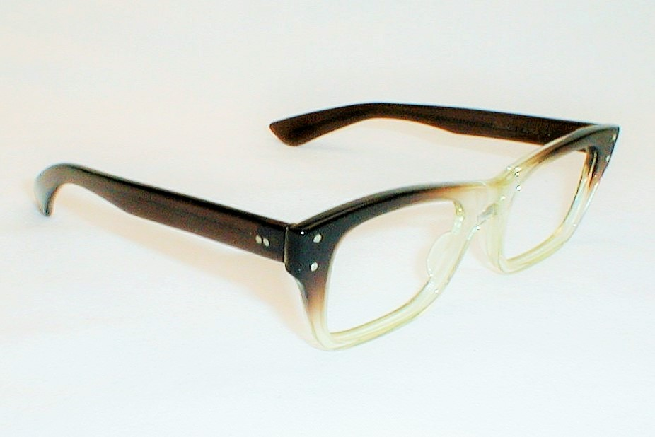 bausch lomb vintage horn black safety eyeglasses