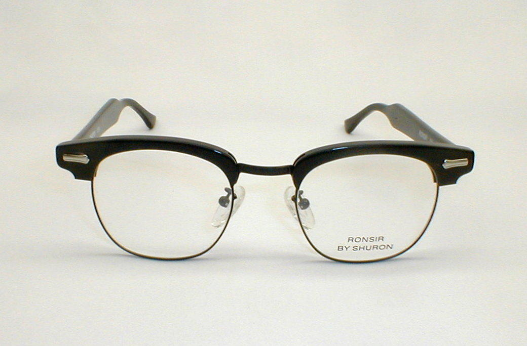 Men s Eyeglass Frames : Mens Vintage Eyeglasses Black Ronsir Combo G-Man