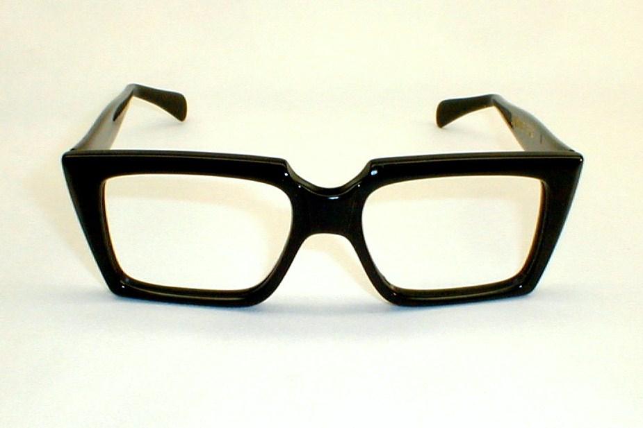 Mens Vintage MOD Black Specs, Eyeglasses
