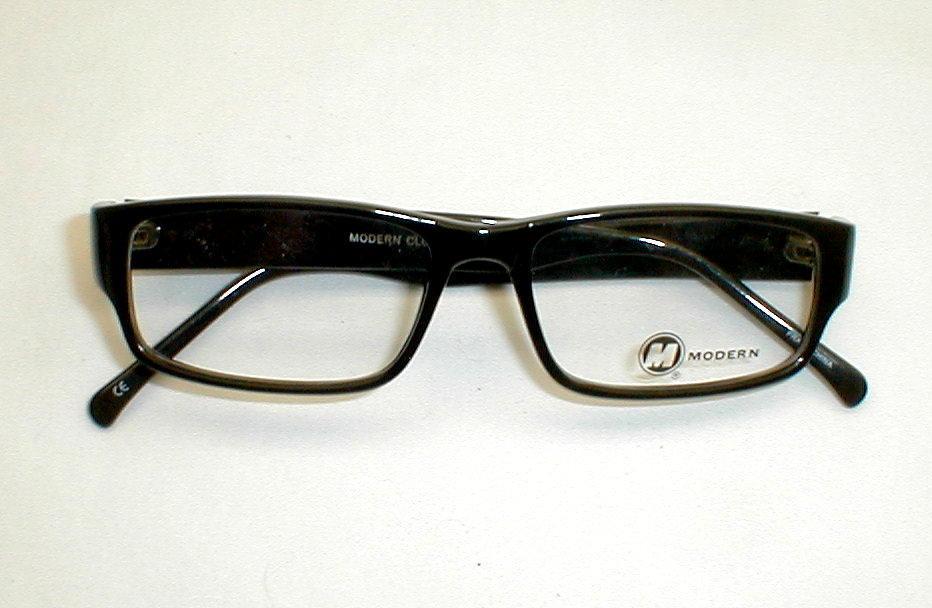 Eyeglass Frames Modern : Vintage Mens Eyeglasses Frames Black 50s-60s Modern ...