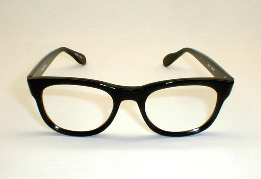 Vintage Mens Black Cosmo Eyeglasses Frames