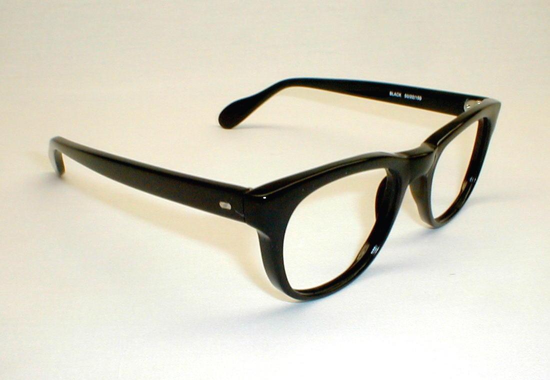 Eyeglasses Black Frame : Vintage Mens Black Cosmo Eyeglasses Frames