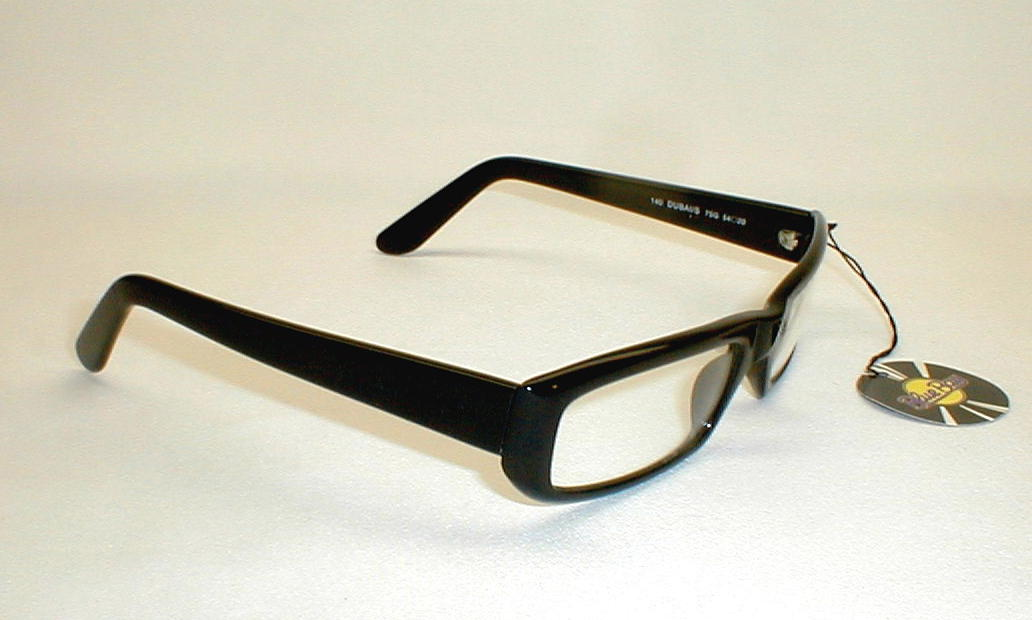 Vintage Mens Large Black Italian Safilo Glasses