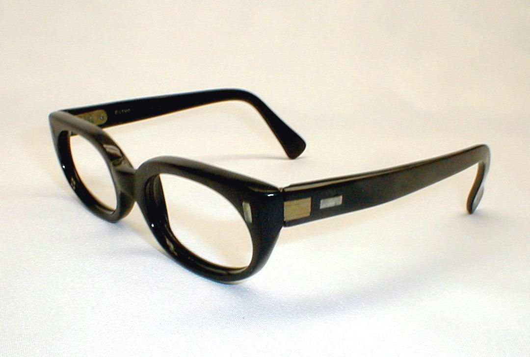 Glasses Frames Italian : Mens Vintage Eyeglasses Frame Black Italian Eyewear Estrella