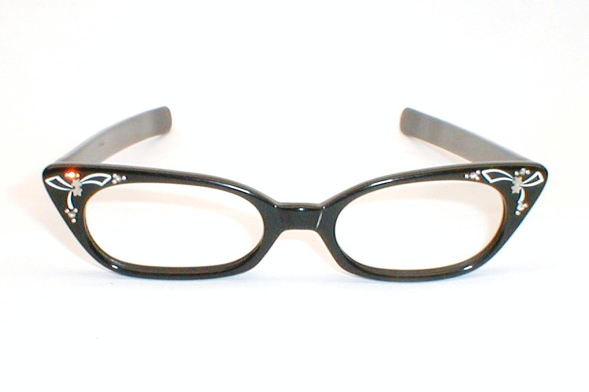 cat eye glasses frames with rhinestones foto