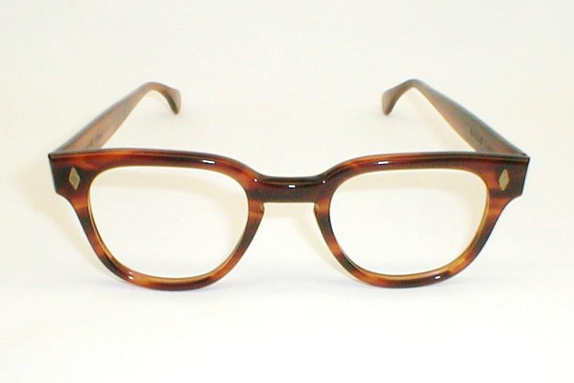 Vintage Mens Eyeglasses Frames Black 50s-60s Tart