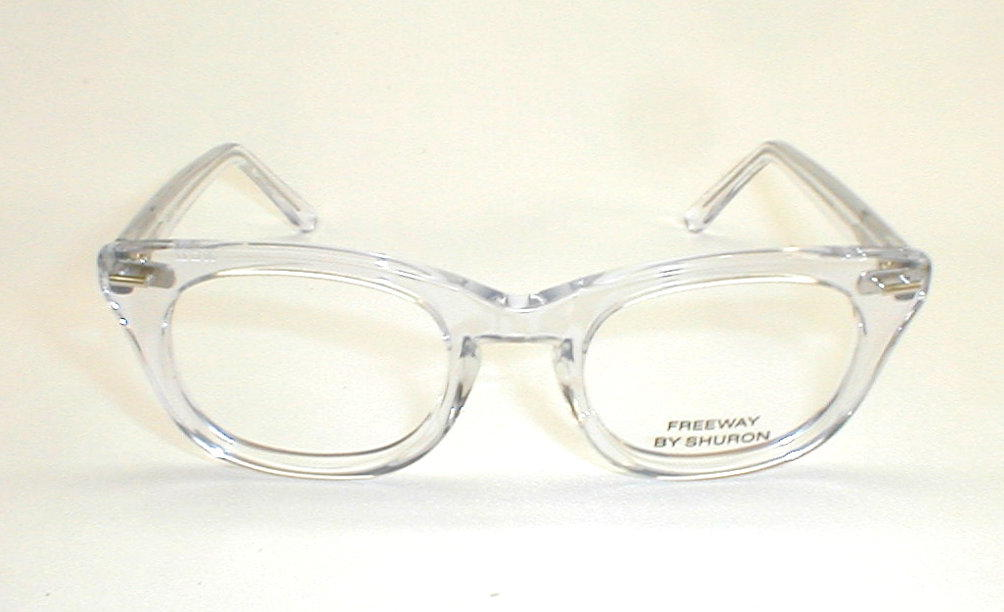 Mens Vintage Eyeglasses Frames Shuron Optical Freeway Crystal