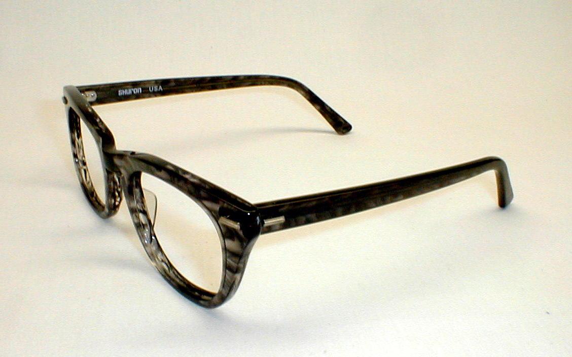 mens vintage eyeglasses frames grey freeway