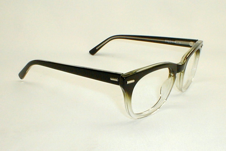 mens vintage eyeglasses frames freeway black fade 1950s