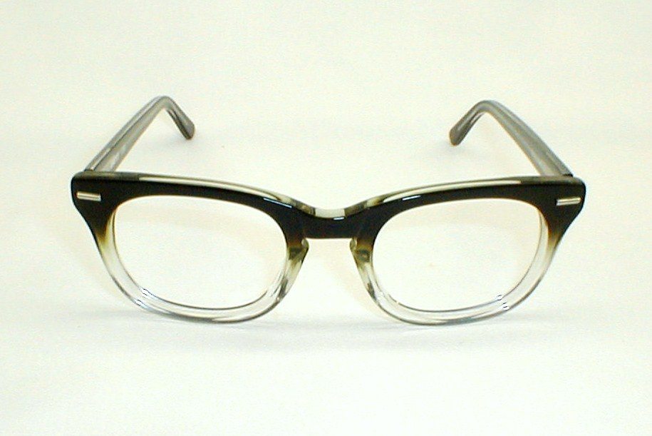a48fa40aaffe Mens Vine Eyegles Frames Way Black Fade 1950s. Round Frame Reader By Alan J  Collection 1014873 Brown Crystal ...