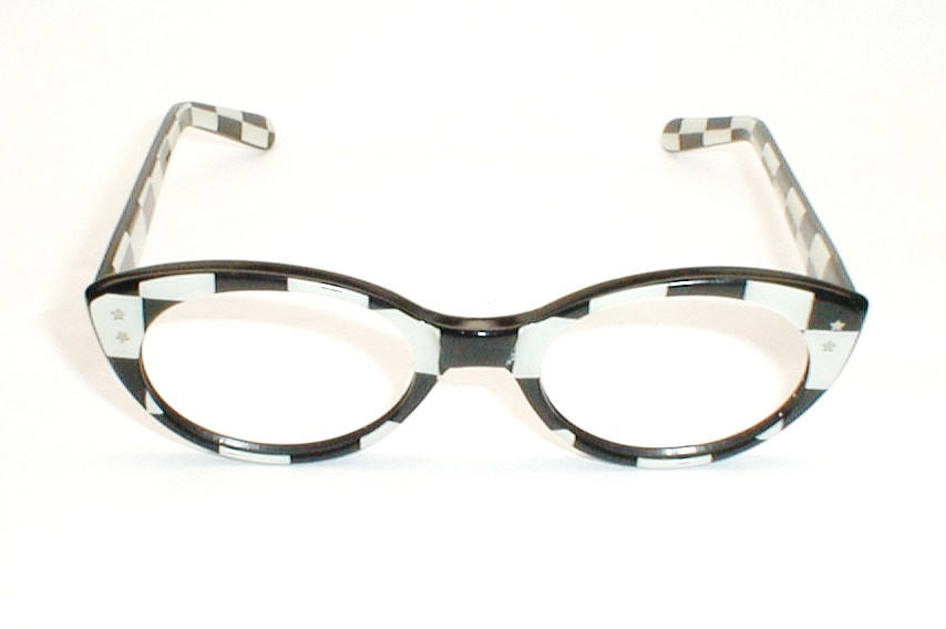 Checkered Glasses Frame
