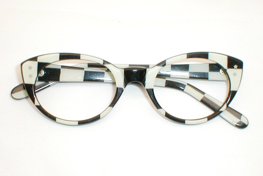 Frame Of Glasses In French : Vintage Catseye Glasses, Swank Frame France