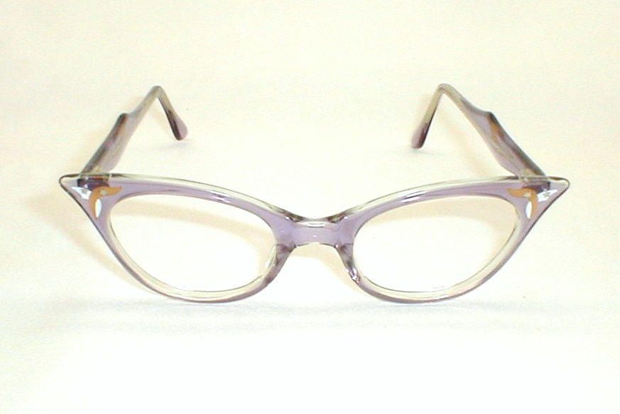 Vintage womens eyeglasses frames cat eyeluxury lady art craft for Art craft eyeglasses vintage