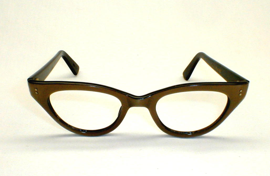Swank Gold and Black Eyeglasses Frame France, DeParee II