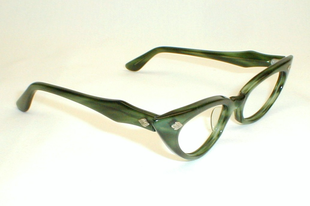 Eyeglass Frames Green : Swank Green and Black Eyeglasses Frame France, DeParee II ...