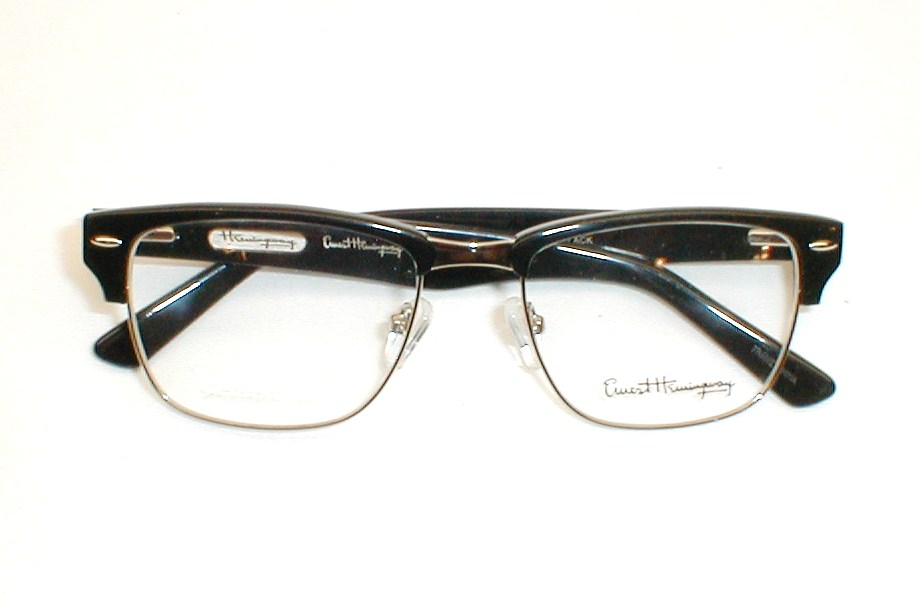 Line Optical Questions : Mens vintage g man eyeglasses clooney by ernest hemingway