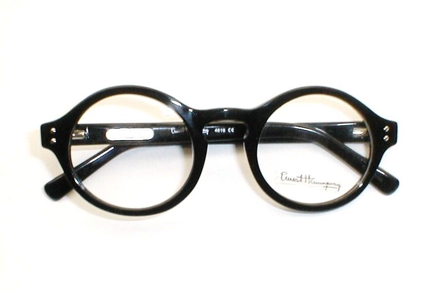 mens vintage g man eyeglasses round eye by ernest hemingway - Ernest Hemingway Frames