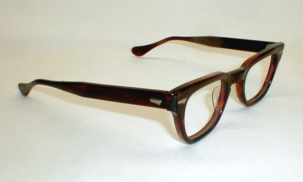 Eyeglass Frames From Kingsman : Vintage Mens Eyeglasses Frames Black 50s-60s Tart