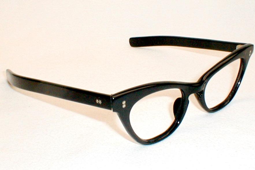 Womens Vintage Eyeglasses, Black Cat Eye Glasses