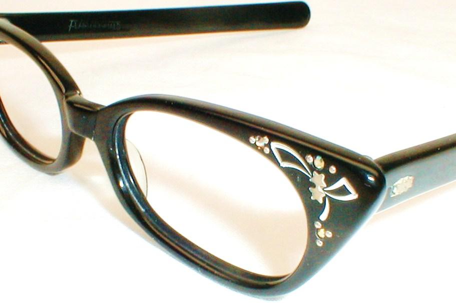 Womens Vintage 50s-60s Cat Eye Glasses, Eyeglasses France ...