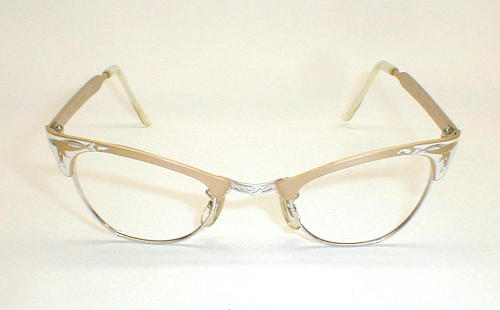 Gold And Silver Eyeglass Frames : Vintage Womens Eyeglass Frames Martin Copeland USA Gold ...