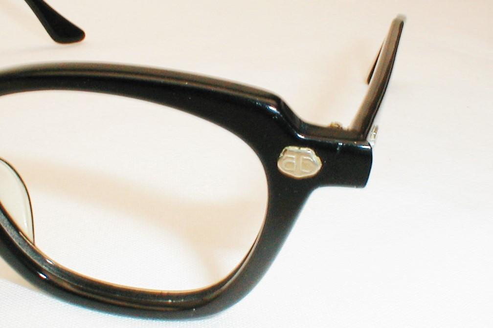 Bausch & Lomb Vintage Horn-Rim Black Safety Eyeglasses