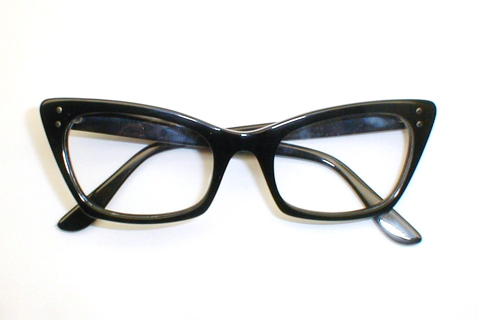 Vintage Cat Eye Glasses Large
