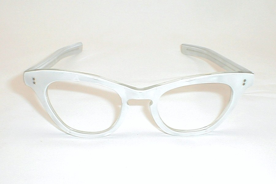 Eyeglasses White Frame : Womens Vintage Eyeglasses Cat Eye Glasses Frame France ...