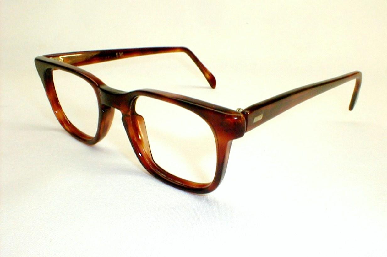 Eyeglass Frames Two Tone : Mens Vintage Eyeglasses, 2-Tone Frames, Ward Optical, MOD
