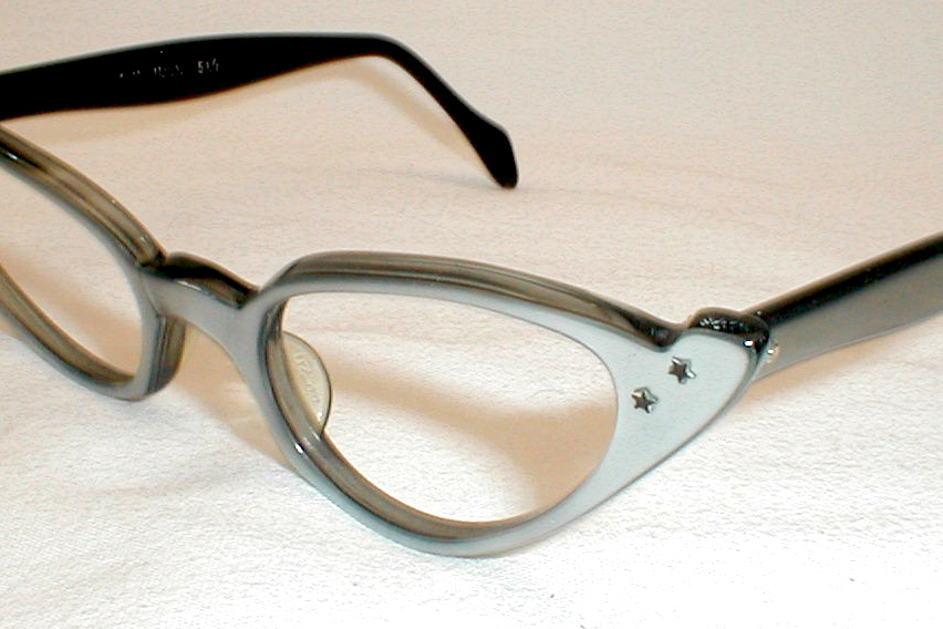 womens vintage 50s 60s cat eye glasses eyeglasses combo