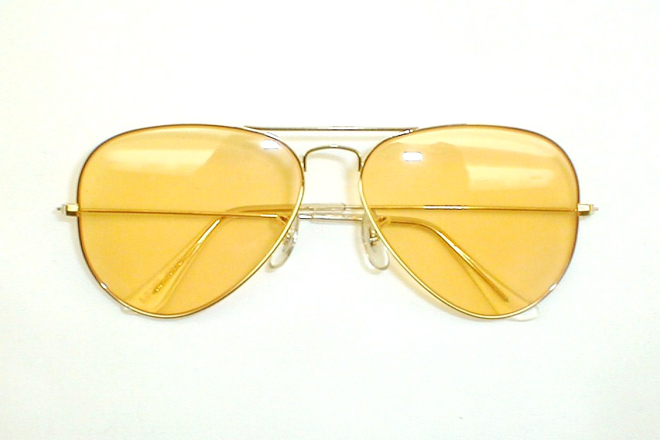 ray ban aviator yellow glass  ray ban yellow