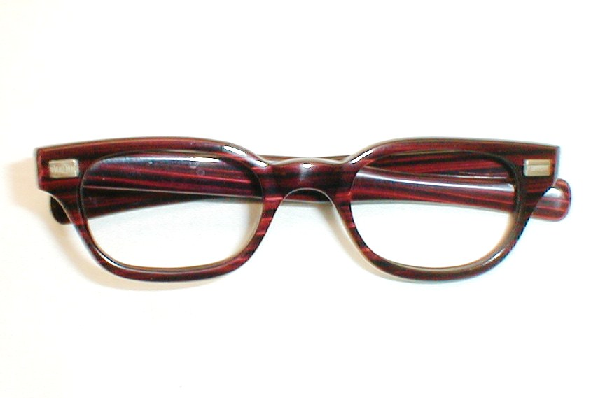 Men s European Eyeglass Frames : mens Vintage 60s eyeglasses frames, G-Man, Redwood