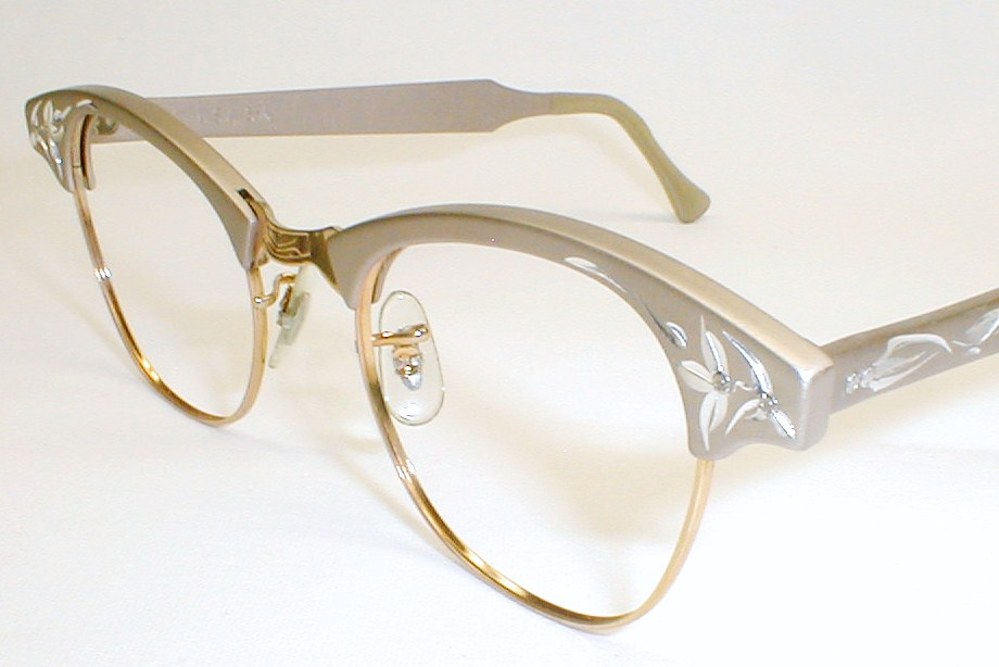 Vintage womens eyeglasses frames cat eye luxury lady art craft for Art craft eyeglasses vintage