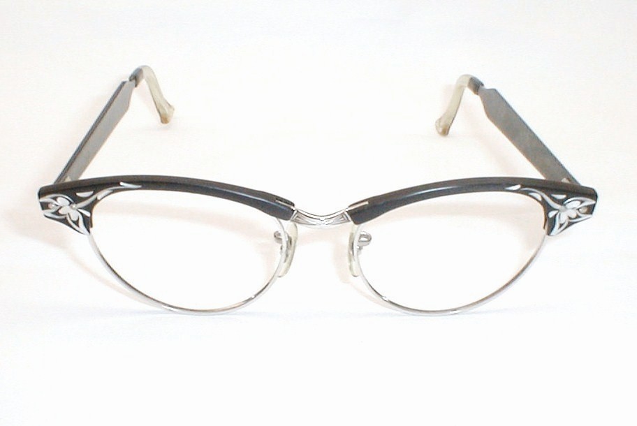 Cat Eyeglass Frames : Silver Cat Eye Glasses Frames
