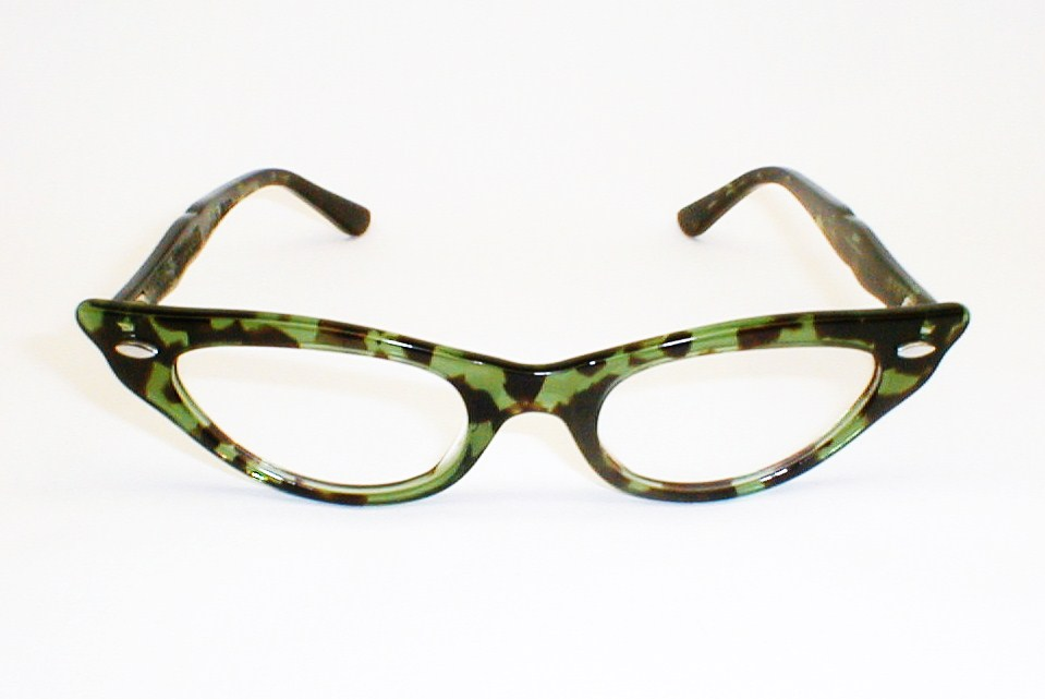 Swank Green and Black Eyeglasses Frame France, DeParee II ...