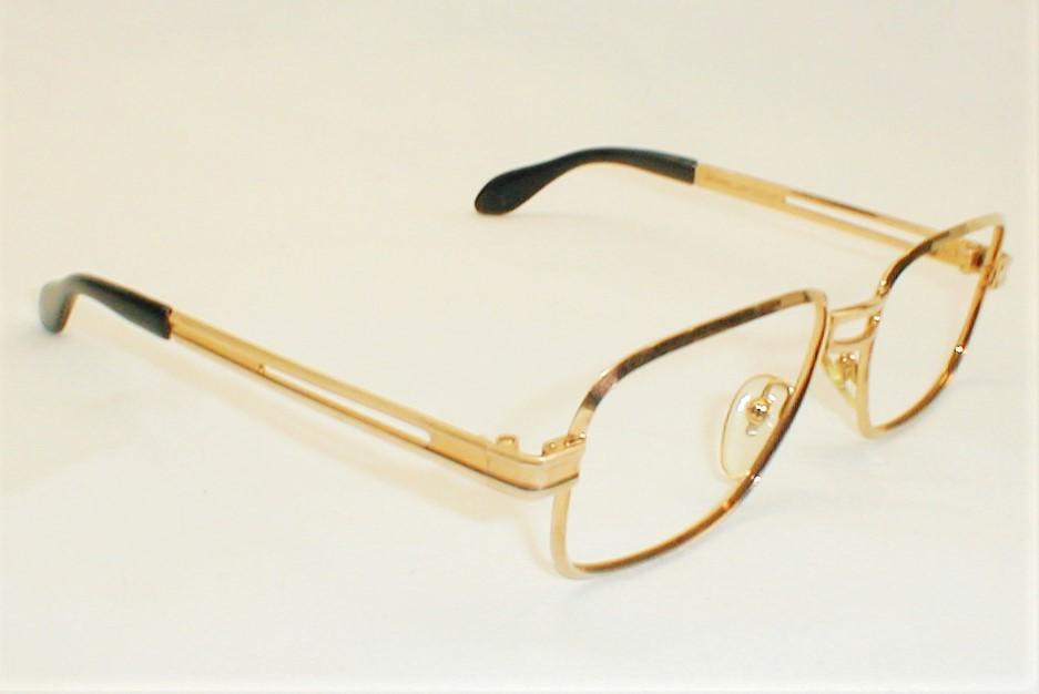 Custom Gold Glasses Frames : Mens Vintage Eyeglasses Bausch & Lomb Art-Decco Eyewear