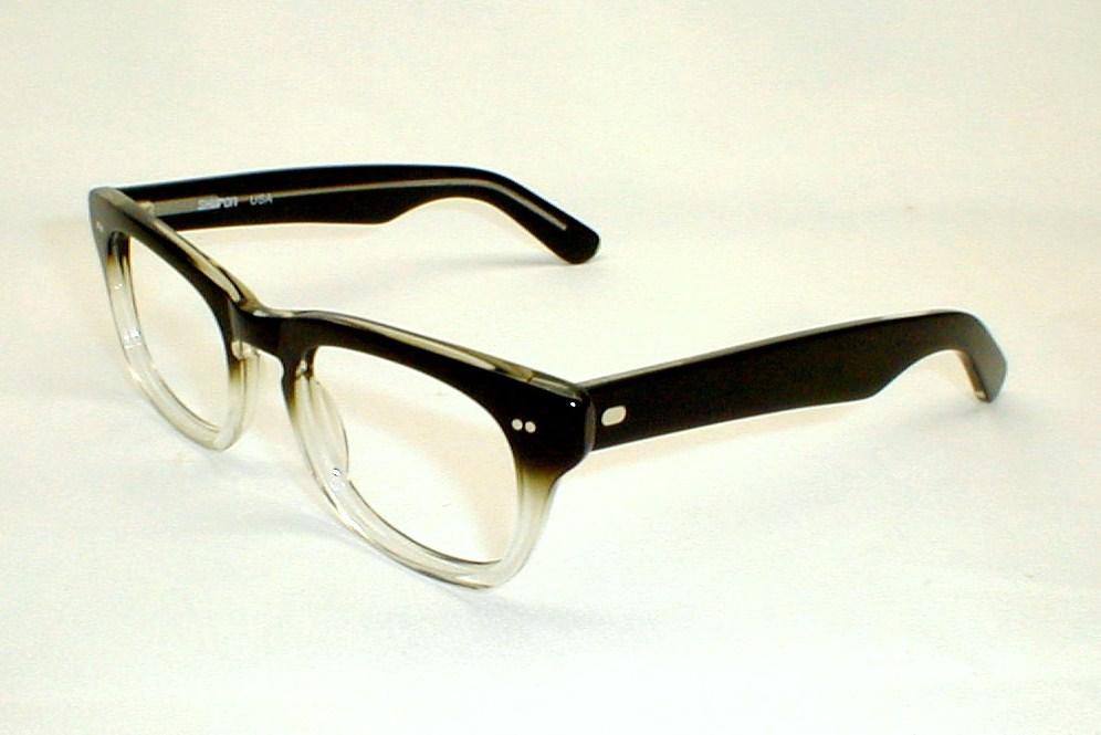 Vintage Shuron Eyeglass Frames : Mens Vintage Eyeglasses Frames Hornrim Sidewinder Shuron
