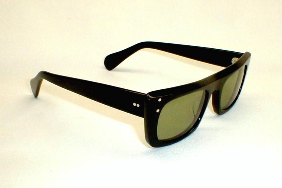 Mens Vintage Eyeglasses Eyewear Frame Italy Black Snapperaz