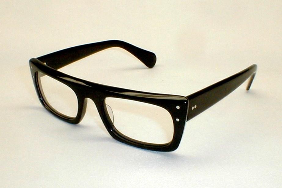 Glasses Frames From Italy : Mens Vintage Eyeglasses Eyewear Frame Italy Stenzel Black ...